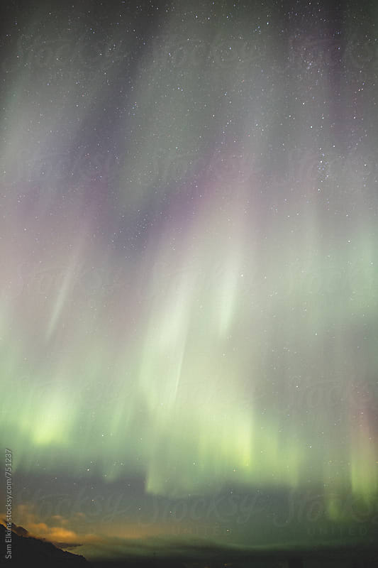 Northern Lights above the Arctic Circle by Sam Elkins for Stocksy United