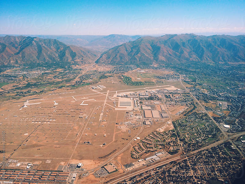 Salt Lake City from Above by Shelly Perry for Stocksy United