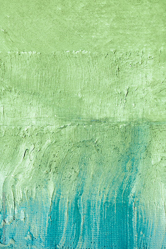 green and blue wall background by Sonja Lekovic for Stocksy United