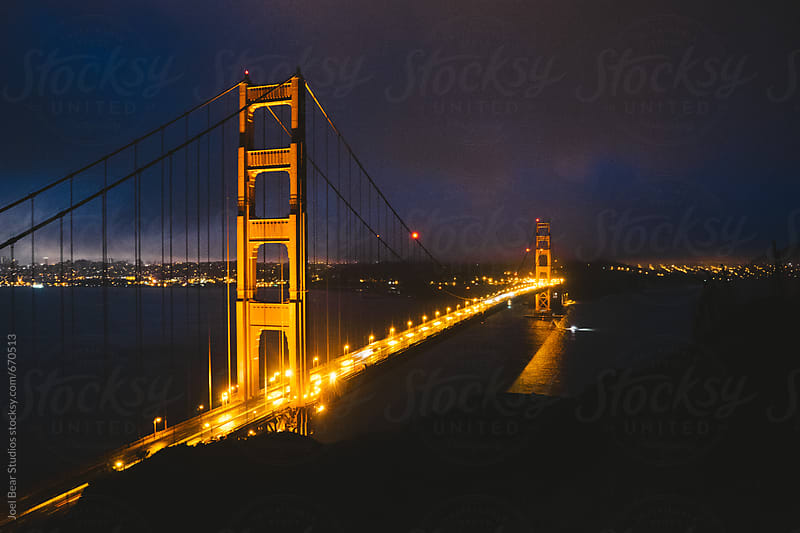 Glow of the Bridge  by Joel Bear Studios for Stocksy United