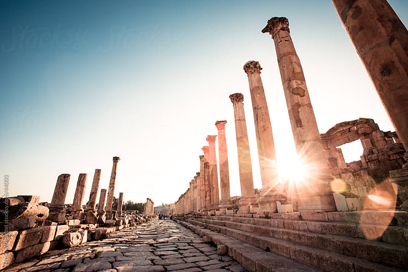Ruins of the City of Jerash, Jordan by Micky Wiswedel for Stocksy United