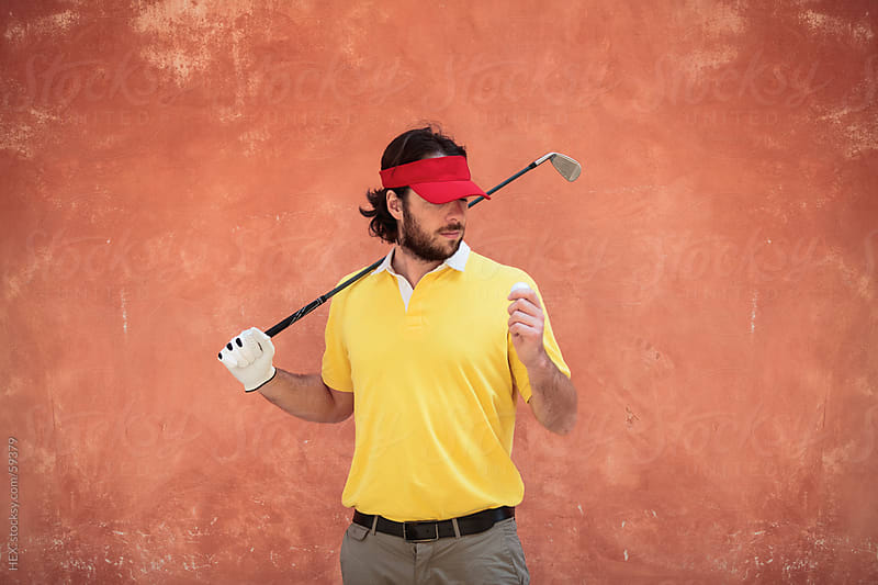 Golfer Man Portrait by HEX. for Stocksy United