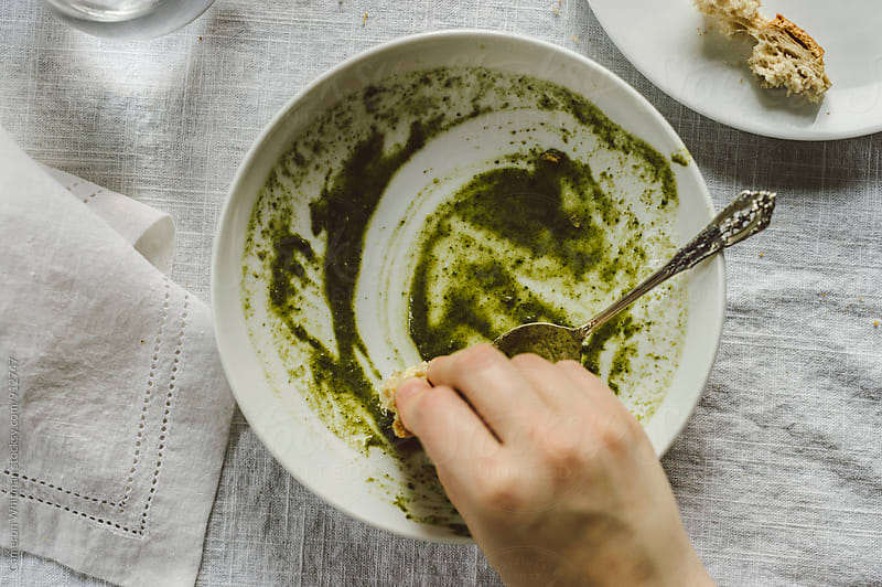 Greens Soup Swipe by Cameron Whitman for Stocksy United