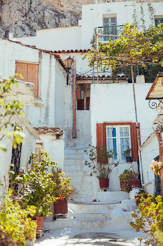 Gorgeous neighborhood in Athens by Aaron Thomas for Stocksy United