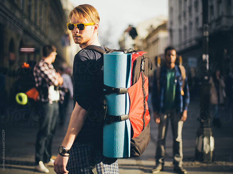 Cool Backpacker by Lumina for Stocksy United