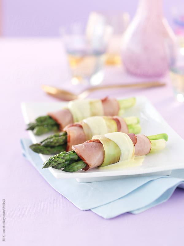 Ham and Asparagus by Jill Chen for Stocksy United