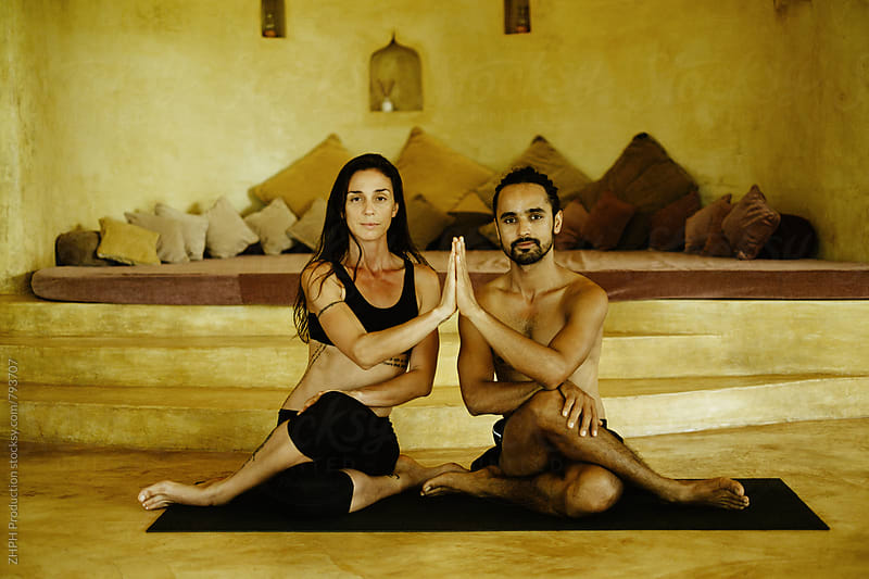 Yoga practise by ZHPH Production for Stocksy United