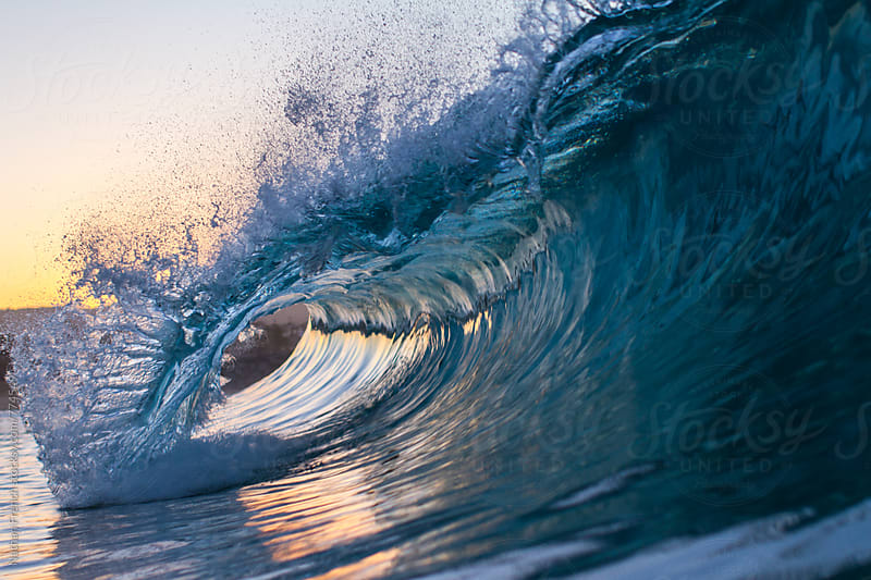 Newport Sunrise Wave by Nathan French for Stocksy United