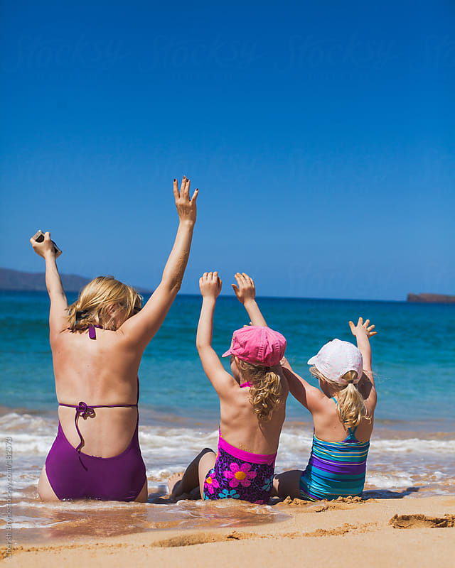 Hooray for the beach! by Cherish Bryck for Stocksy United