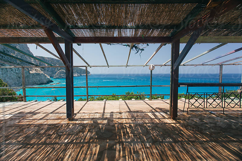 View on beautiful bright Ionian Sea in Greece by Dejan Ristovski for Stocksy United