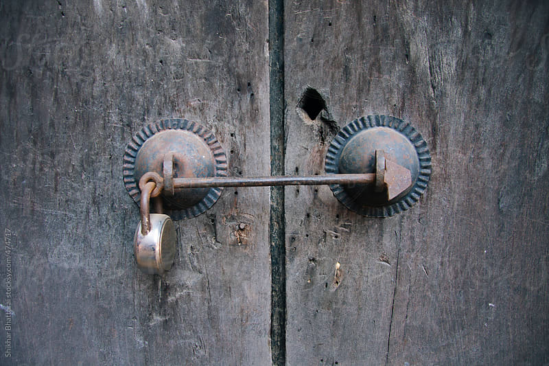 An old door lock. by Shikhar Bhattarai for Stocksy United