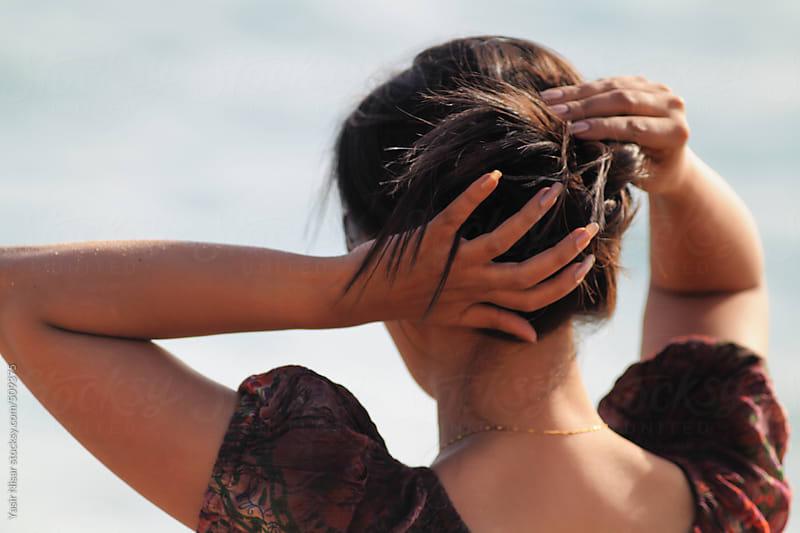 A lady at beach by Yasir Nisar for Stocksy United