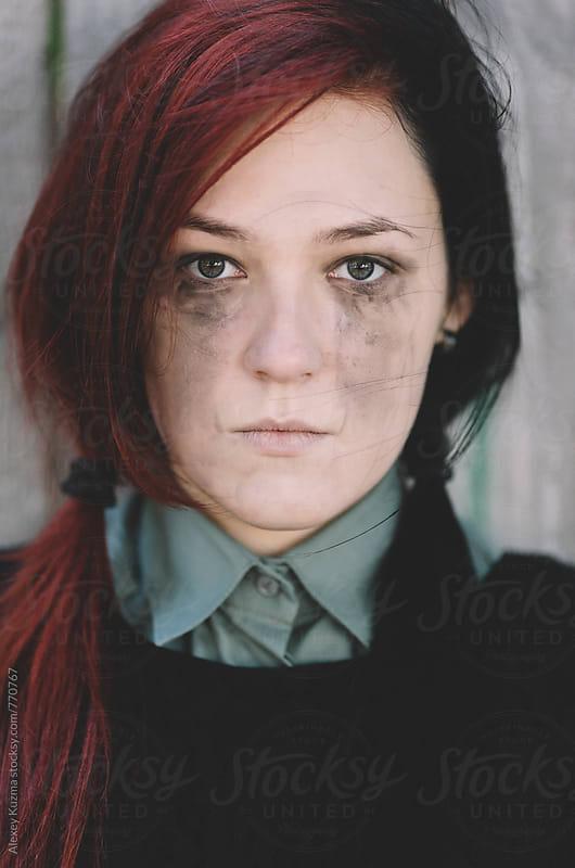 halloween portrait by Alexey Kuzma for Stocksy United