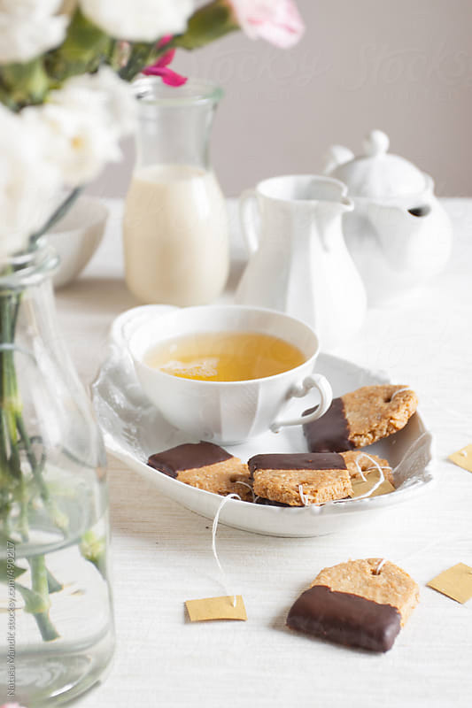 Tea and biscuits by Nataša Mandić for Stocksy United