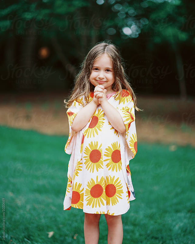 Cute young and fashionable girl wearing a cover up by Jakob for Stocksy United