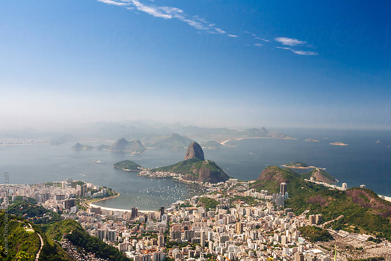 Aerial view of Rio de Janeiro by Gabriel Tichy for Stocksy United