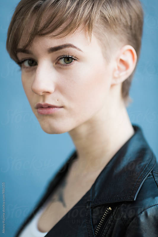 Portrait of androgyne . by Alexey Kuzma for Stocksy United