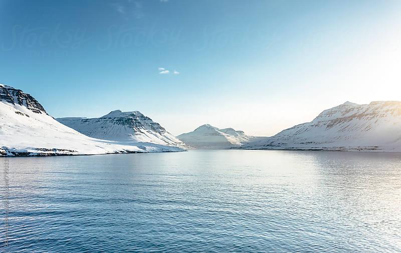 Iceland fjord in winter by Soren Egeberg for Stocksy United