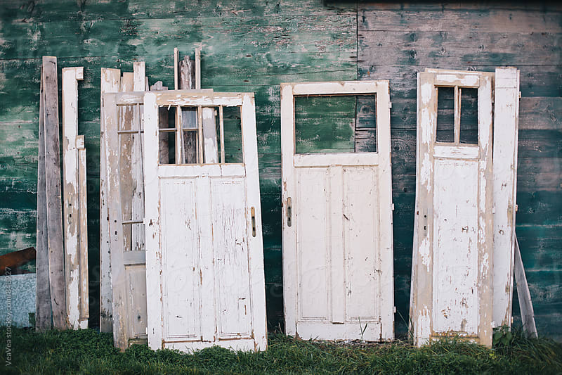 Old rural doors outdoors  by VeaVea for Stocksy United