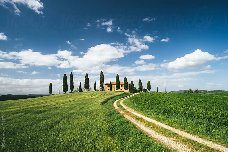 Traditional farm in Tuscany during spring by GIC for Stocksy United