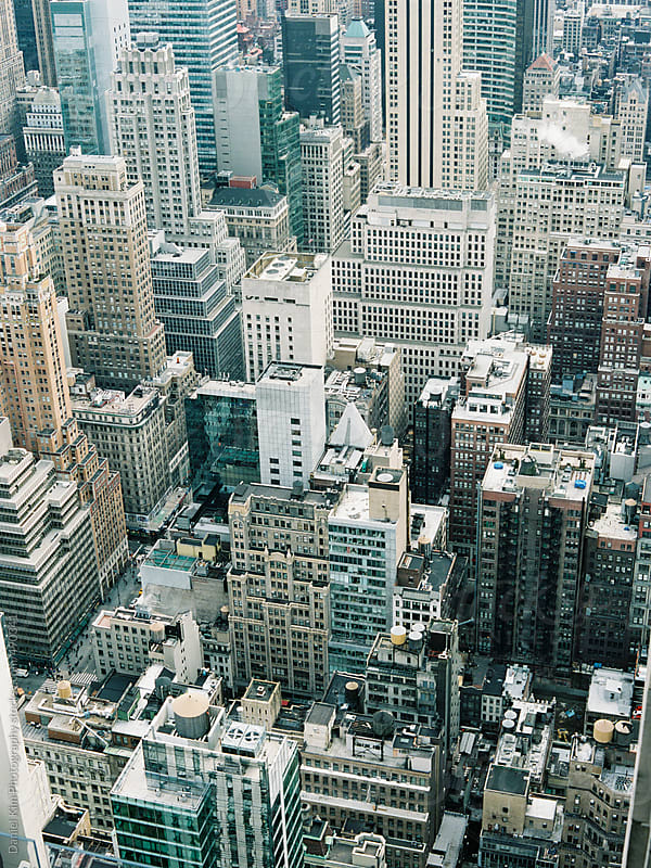 View of New York City buildings by Daniel Kim Photography for Stocksy United