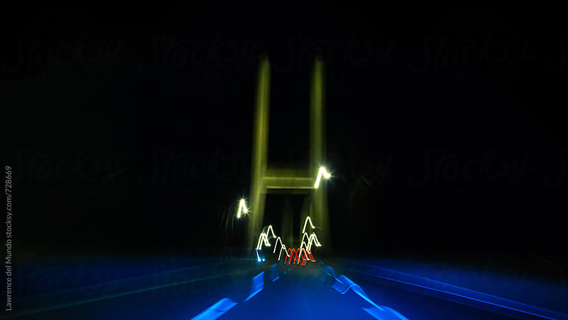 Speed of light at night by Lawrence del Mundo for Stocksy United