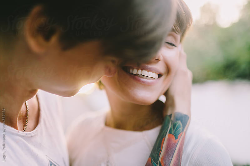 Passionate young couple close-up by Evgenij Yulkin for Stocksy United
