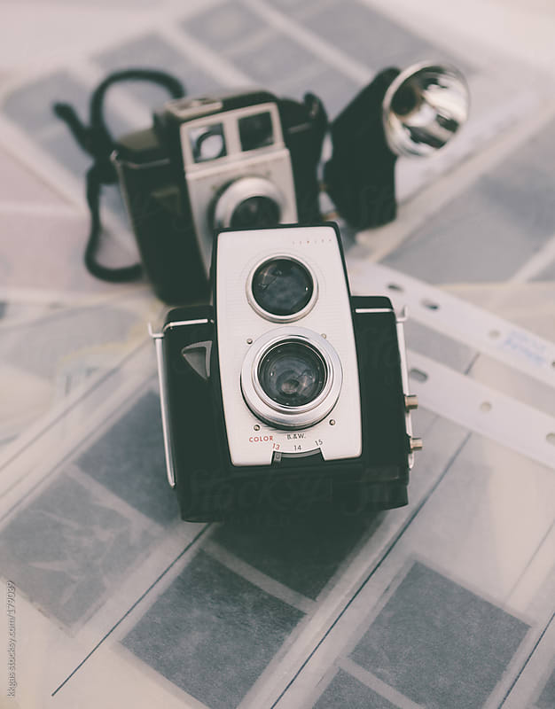 Vintage photographic cameras and negatives by kkgas for Stocksy United