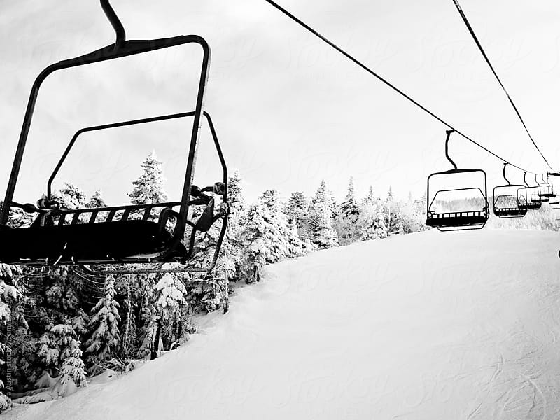 Chairlift At A Ski Resort by Laura Austin for Stocksy United