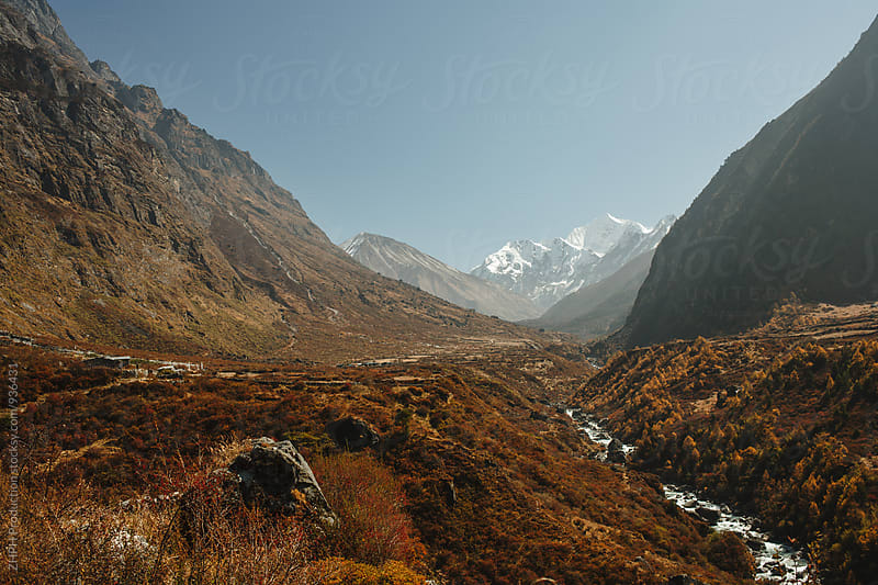 Himalayan landscape by Artem Zhushman for Stocksy United