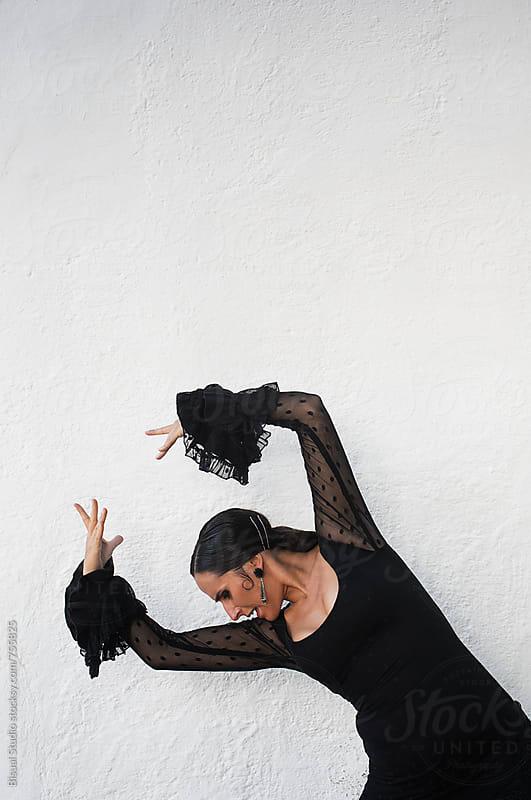 Flamenco dancer performing in Granada by Bisual Studio for Stocksy United