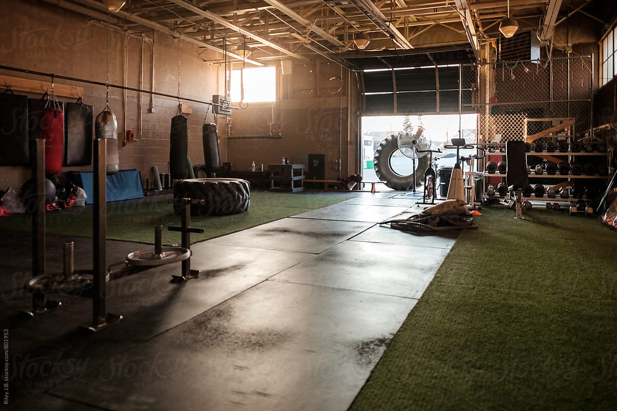 The interior of a gritty gym stocksy united