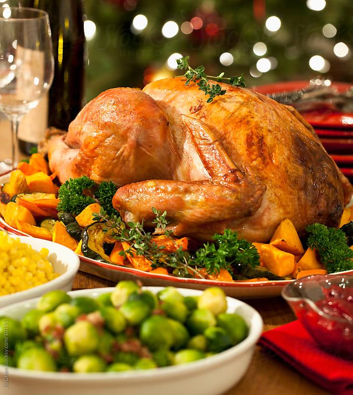 Festive Turkey Dinner by Jill Chen for Stocksy United