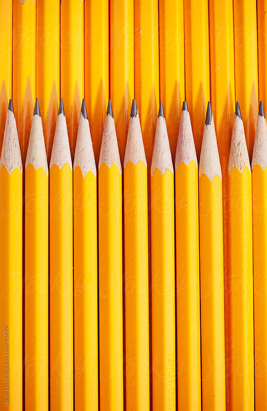 Pencils: Pencils Stacked in Pattern by Sean Locke for Stocksy United