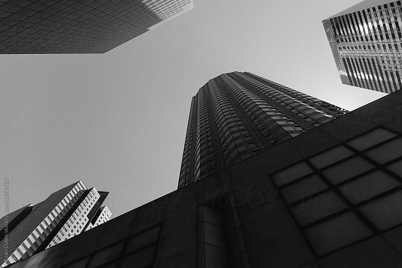 Looking Up At Skyscraper Buildings by Evan Dalen for Stocksy United