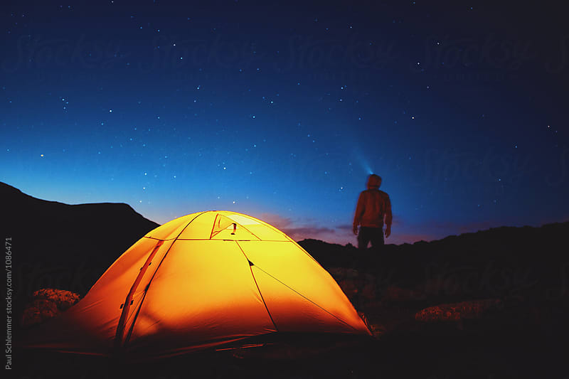 night tent by Paul Schlemmer for Stocksy United