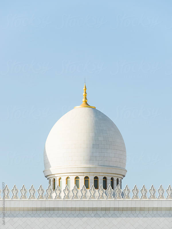 White domes of mosque by Juri Pozzi for Stocksy United