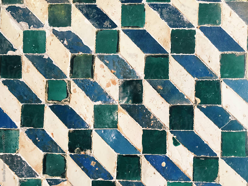 Mosaic tiles by Sam Burton for Stocksy United