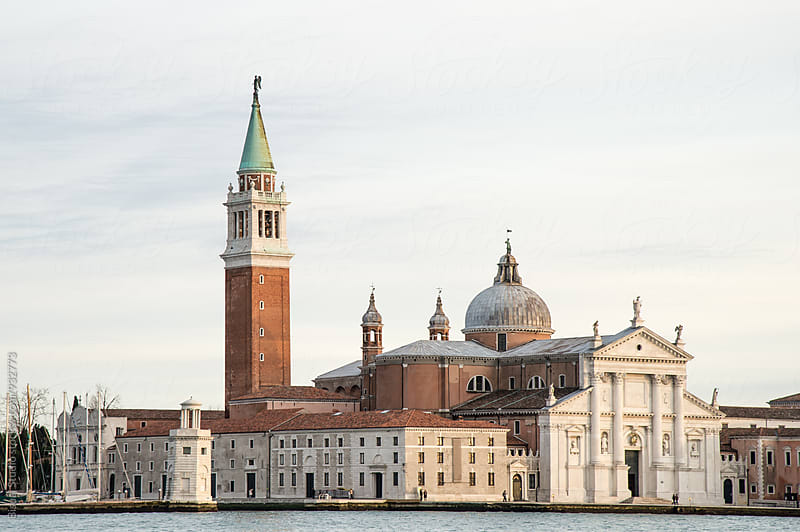 View of San Giorgio Maggiore by Bisual Studio for Stocksy United
