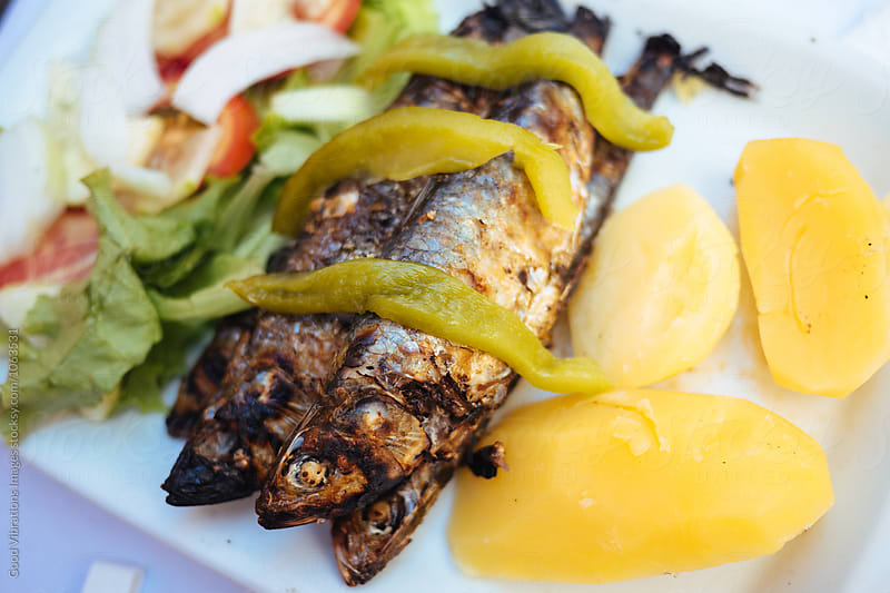 Sardinha Asseada, Grilled Sardines by Good Vibrations Images for Stocksy United
