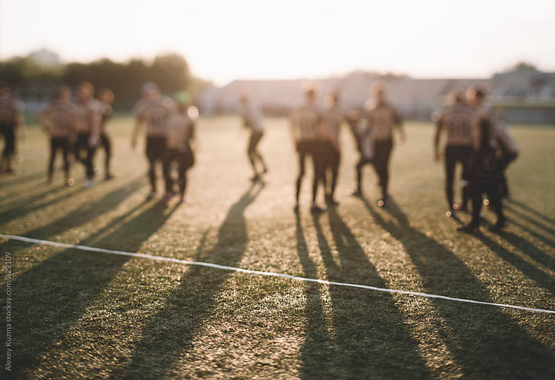 American football players by Vesna for Stocksy United