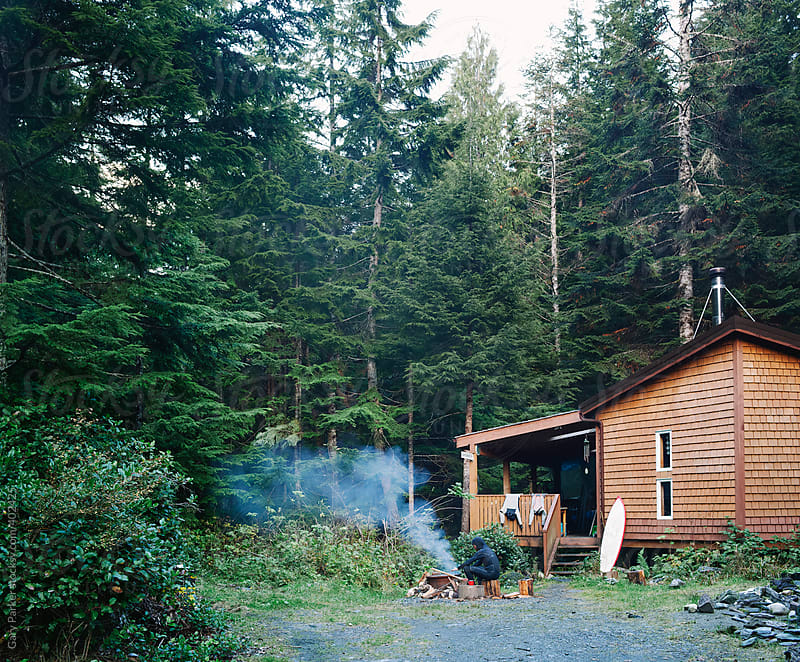 A cabin in the woods by Gary Parker for Stocksy United