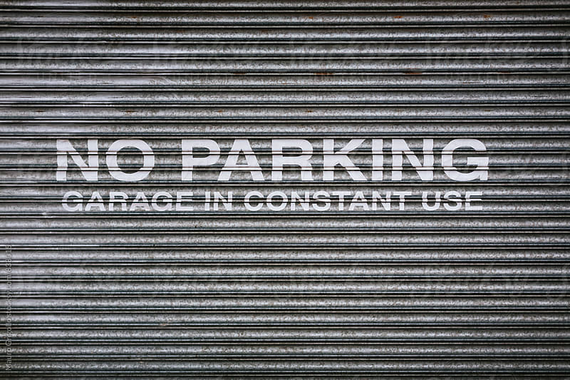 Parking sign by Mauro Grigollo for Stocksy United