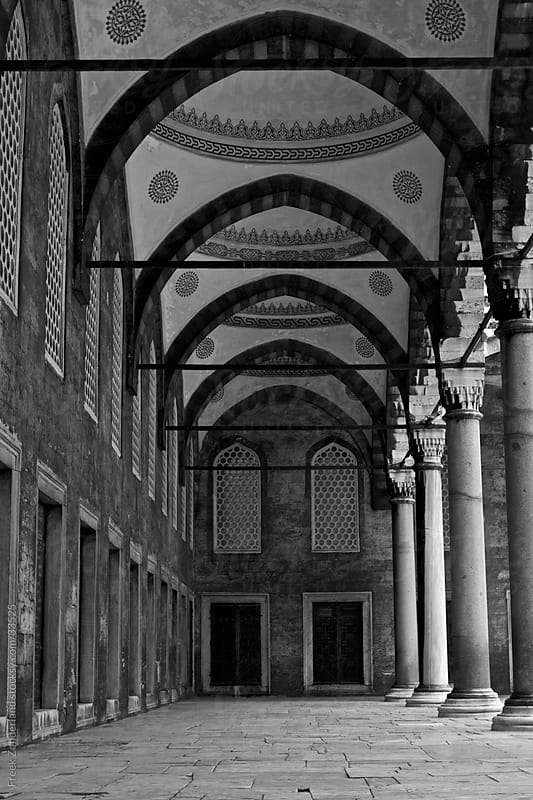 Corridor of the Blue Mosque  by Freek Zonderland for Stocksy United