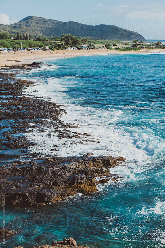 Beautiful view of Hawaii coast by Carey Shaw for Stocksy United
