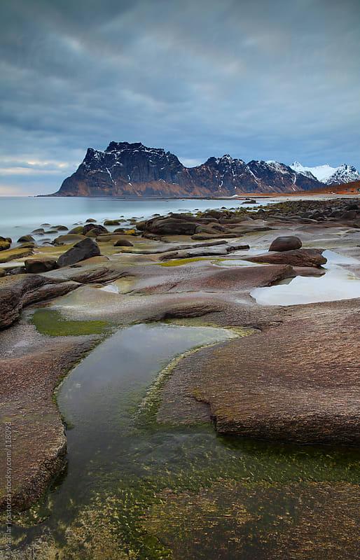 Beach Uttakleiv in Lofoten by Marilar Irastorza for Stocksy United