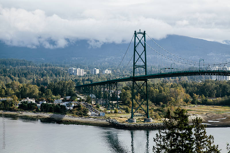 Lions Gate Bridge, Vancouver, Canada. by kkgas for Stocksy United