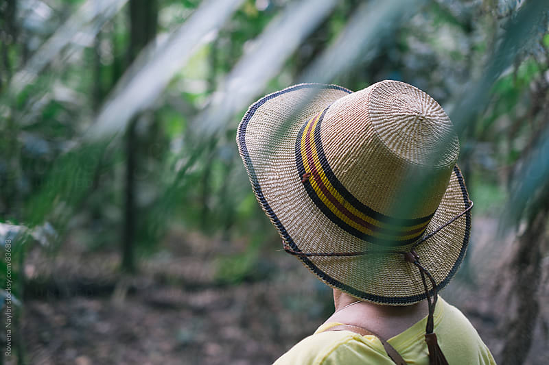 Woman exploring in Rainforest by Rowena Naylor for Stocksy United