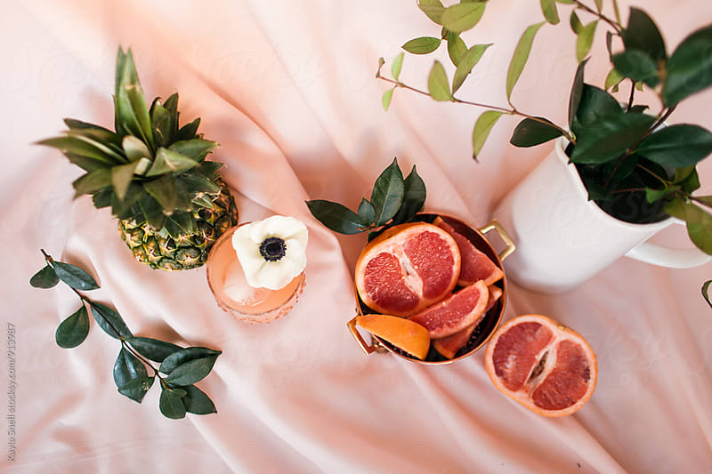 Summery Fruit Cocktail by Kayla Snell for Stocksy United