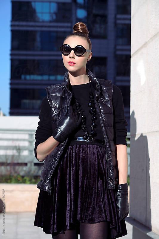 Urban Winter Fashion Girl by Eldad Carin for Stocksy United